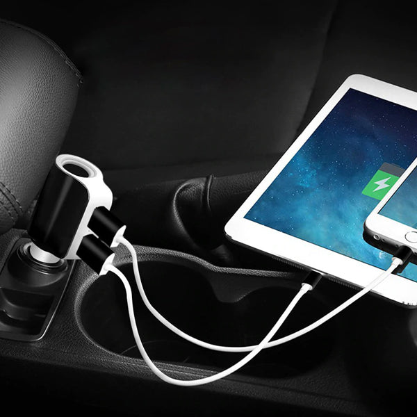 Twin Ports 3 In 1 USB Car Charger