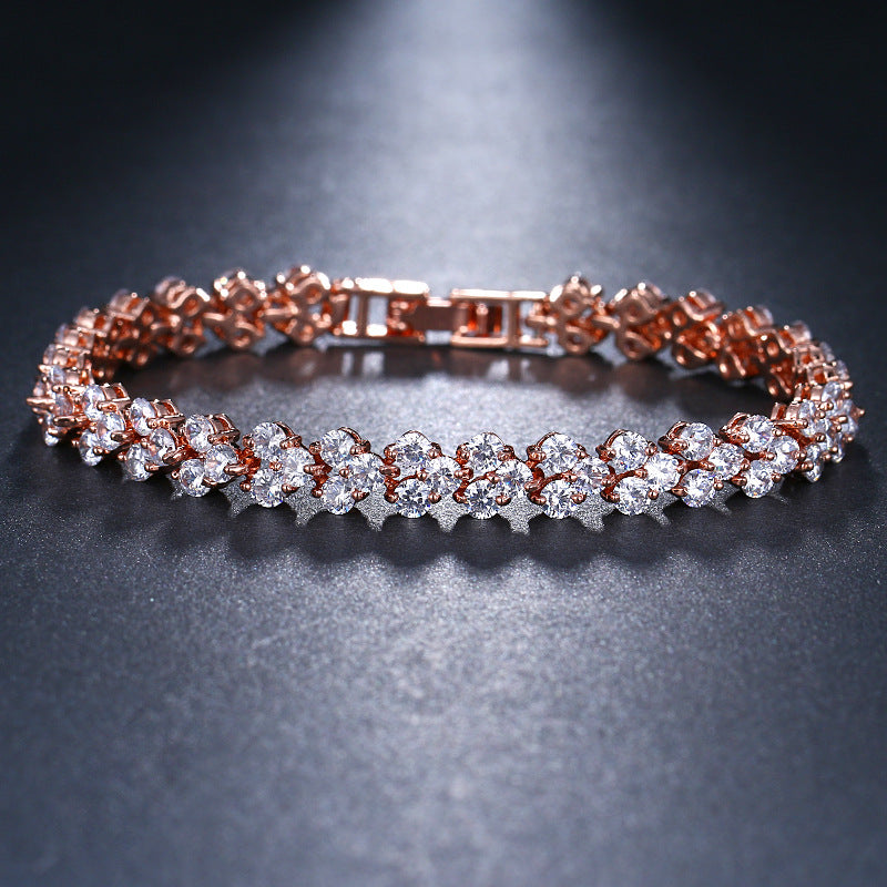 Stellar Triple Row Brilliant Bracelet