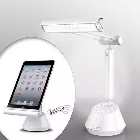 shopify-3 in 1 iPad and Tablet Stand with LED Lamp and Bluetooth Speaker-1