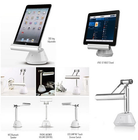 3 in 1 iPad and Tablet Stand with LED Lamp and Bluetooth Speaker - VistaShops - 2