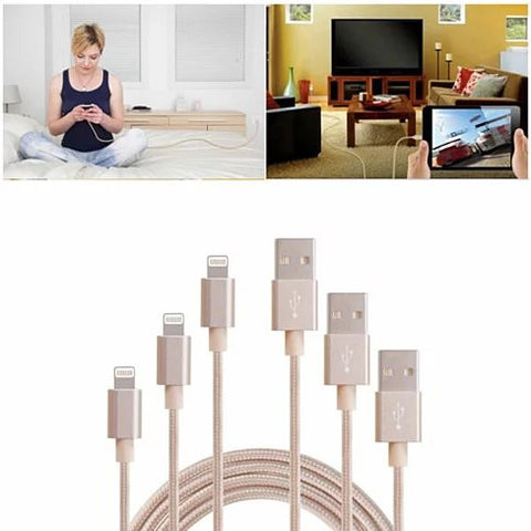 3 to Tango Apple or Android Charging Cables 3ft - 6ft - 10ft All 3 included. - VistaShops - 2