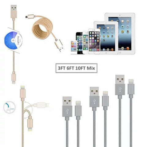 3 to Tango Apple or Android Charging Cables 3ft - 6ft - 10ft All 3 included. - VistaShops - 3