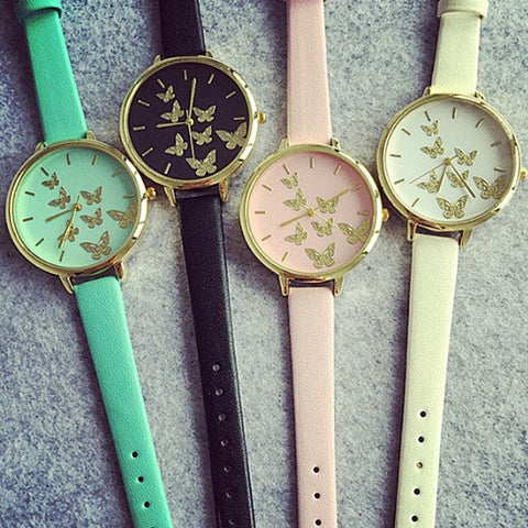 Happy Moments Butterfly Wrist Watches