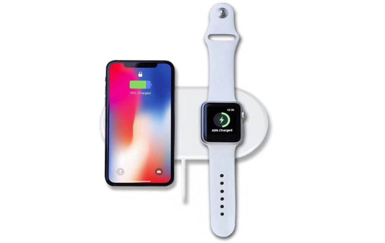 2 in 1 Wireless Charger for iPhone and iWatch