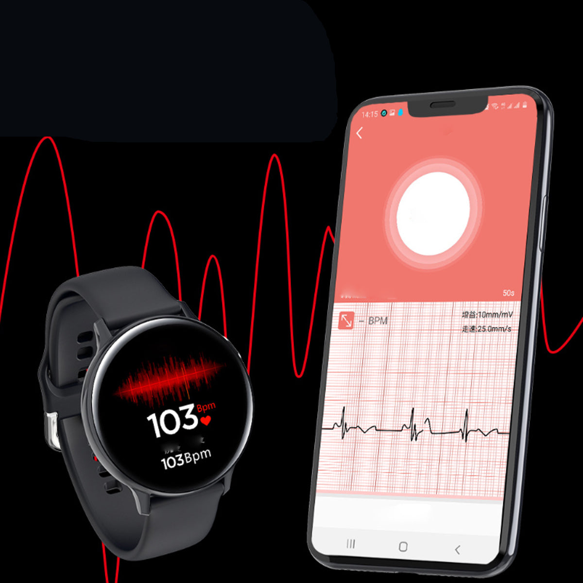 shopify-Smart Watch Round Face  Health Monitoring and Activity Tracker-5