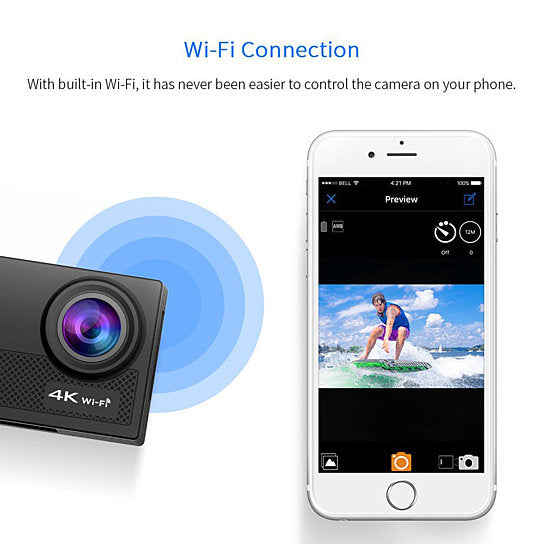 shopify-4K Action Pro Waterproof All Digital UHD WiFi Camera + RF Remote And Accessories-6