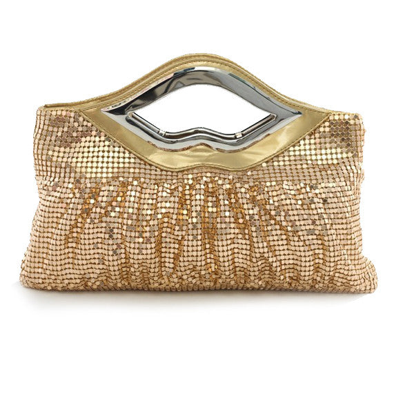 Big Lips Banquet Clutch In 4 Shiny And Matt Colors