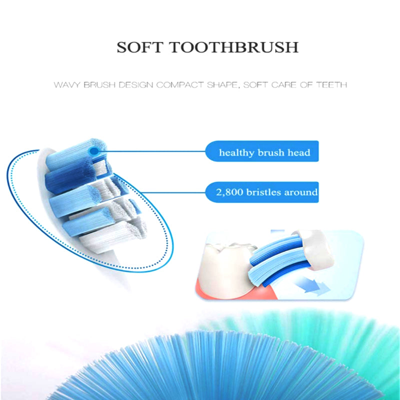 Ultrasonic Electro Toothbrush With Two Additional Brush Heads