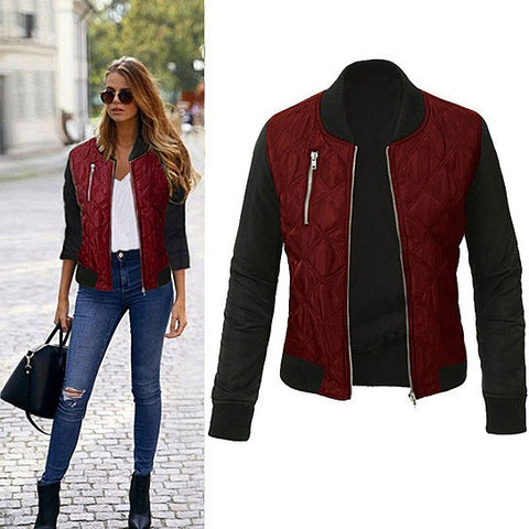 Chic Babe Bomber Jacket In Quilted Satin