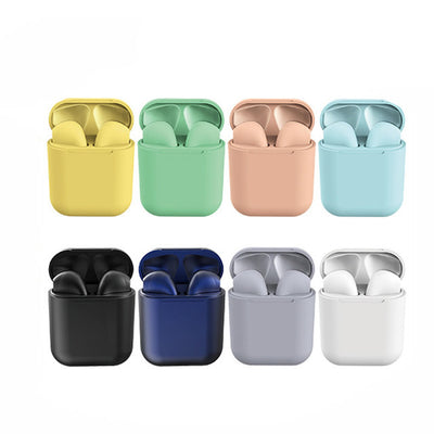 COLOR BLOCK DUAL Chamber One Touch Connect Earbuds With Charger.