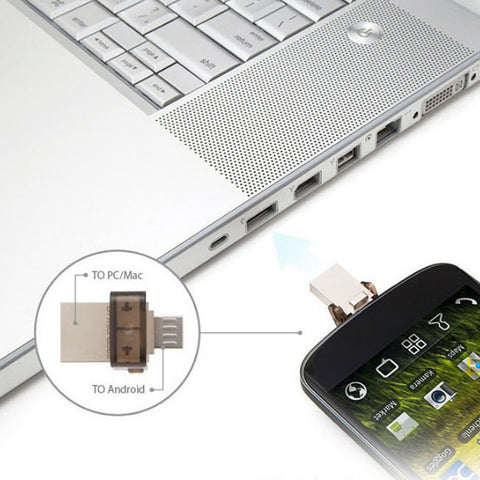 Dual Port Micro USB Flash Storage Memory Drive
