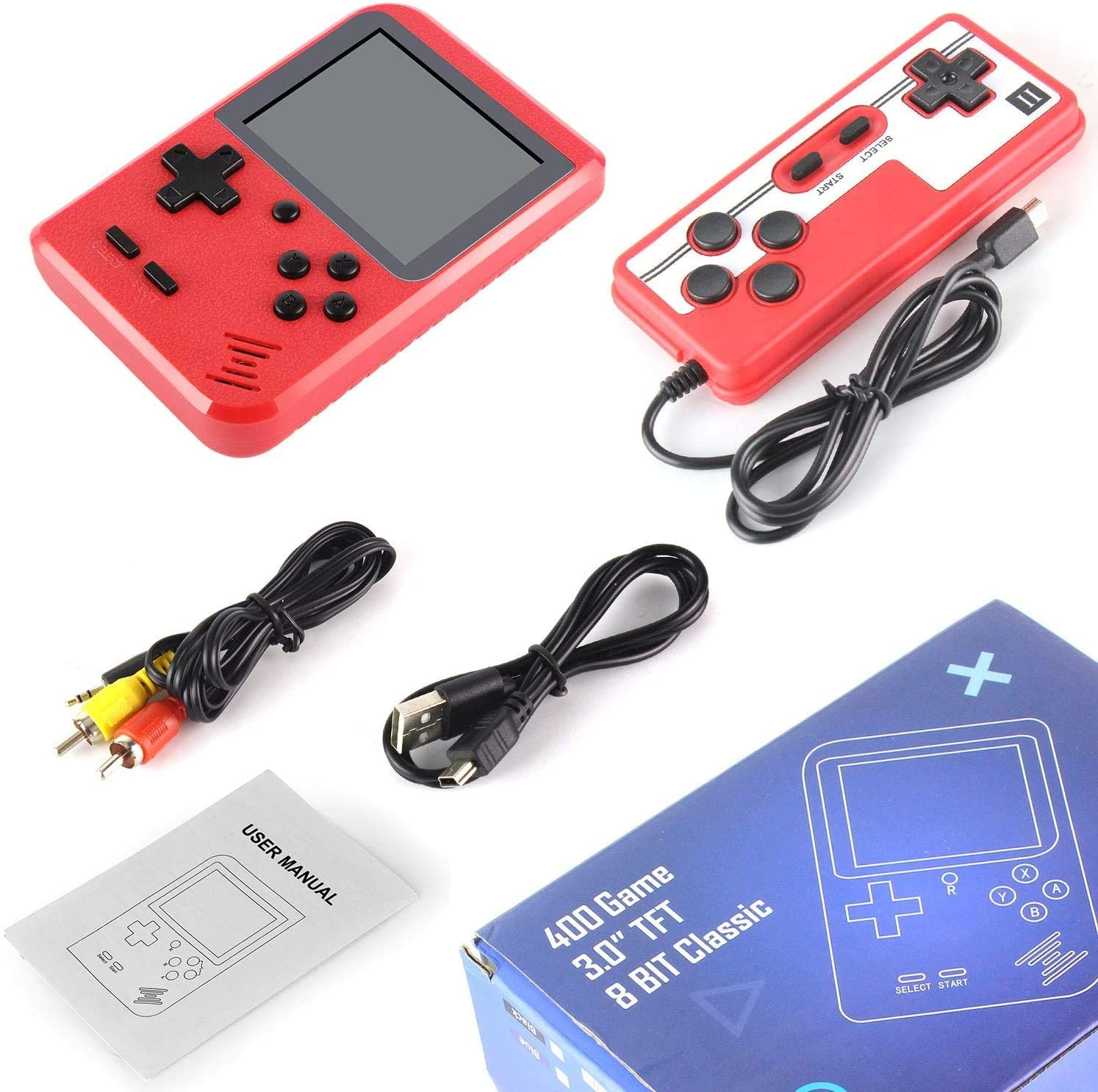 shopify-Portable Game Pad With 400 Games Included + Additional Player Controller-6