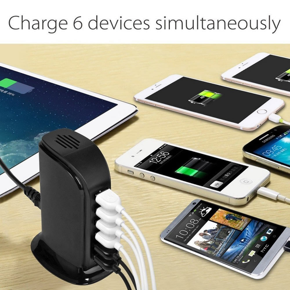 shopify-Smart Power 6 USB Colorful Tower for Every Desk at Home or Office charge any Gadget-4