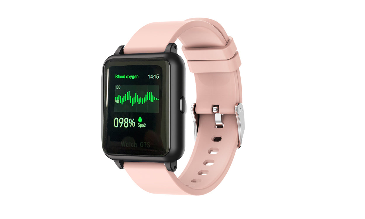 shopify-OXITEMP Smart Watch With Live Oximeter, Thermometer And Pulse Monitor With Activity Tracker-4