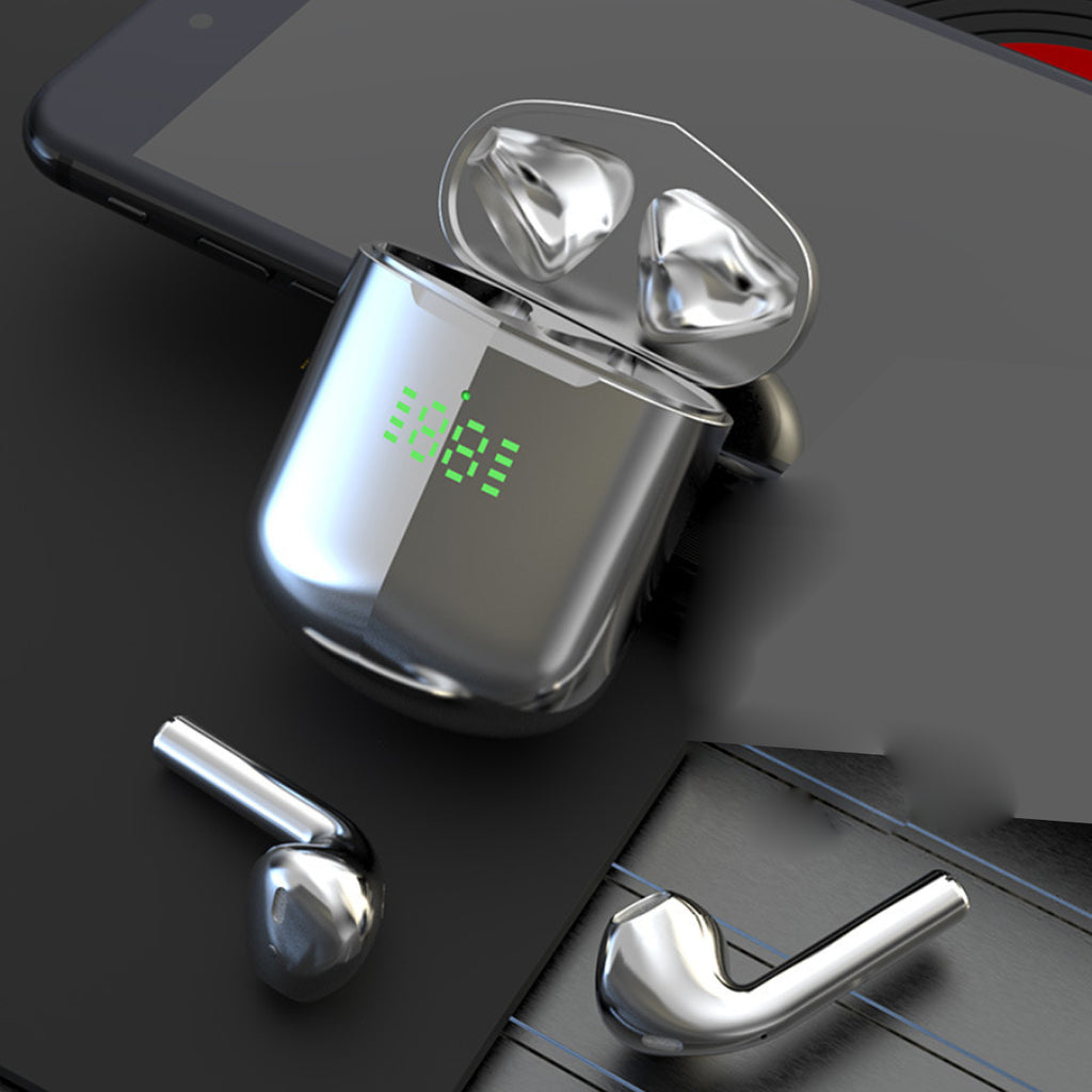 Bluetooth Earpods with LED Indicator And Wireless Charging Pad