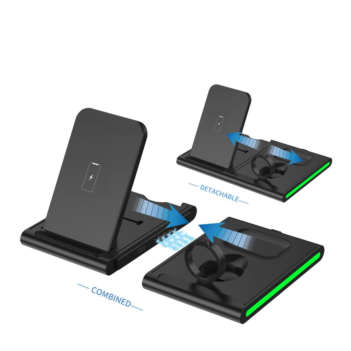 shopify-Magnetic Power Tiles 4 In 1 Wireless Charging Station-5