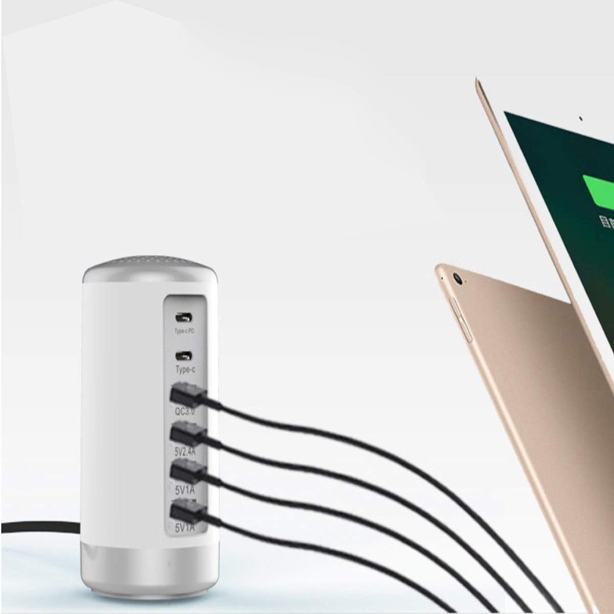 shopify-Tower USB With 6 High Speed Charging Ports-3