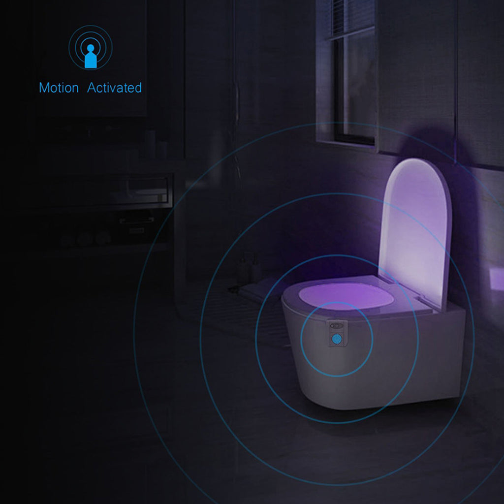 CLEAN BOWL UV Sanitizing Light For Germ Free Toilets With LED Motion Light