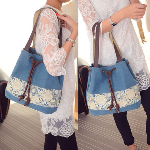 Lace Love Canvas Bag