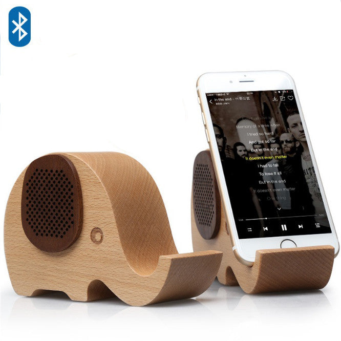 shopify-WOODSY GOODSY 2 IN 1 Bluetooth Speaker And Cell Phone Stand-1
