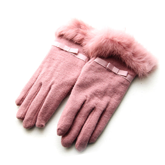 shopify-Kitten Mittens Faux Fur Lining Touch Smart Gloves-9