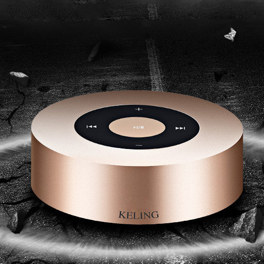 Minimal Metallic Bluetooth Speaker and MP3 Player