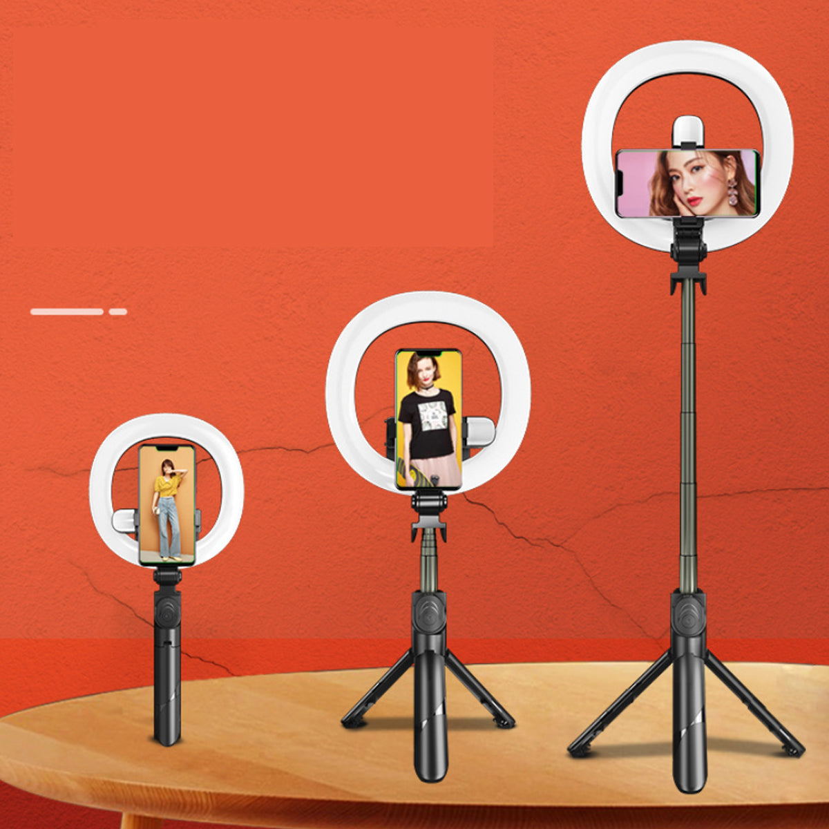 shopify-Self Video Portrait With Dual LED Bluetooth Light And Stand-4