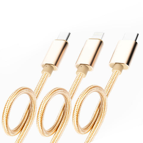 3 in1 cable Type C - Micro and 8 pin
