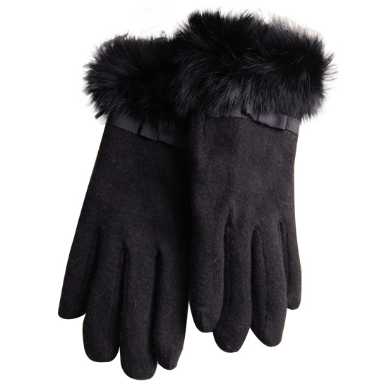 Kitten Mittens Faux Fur Lining Touch Smart Gloves