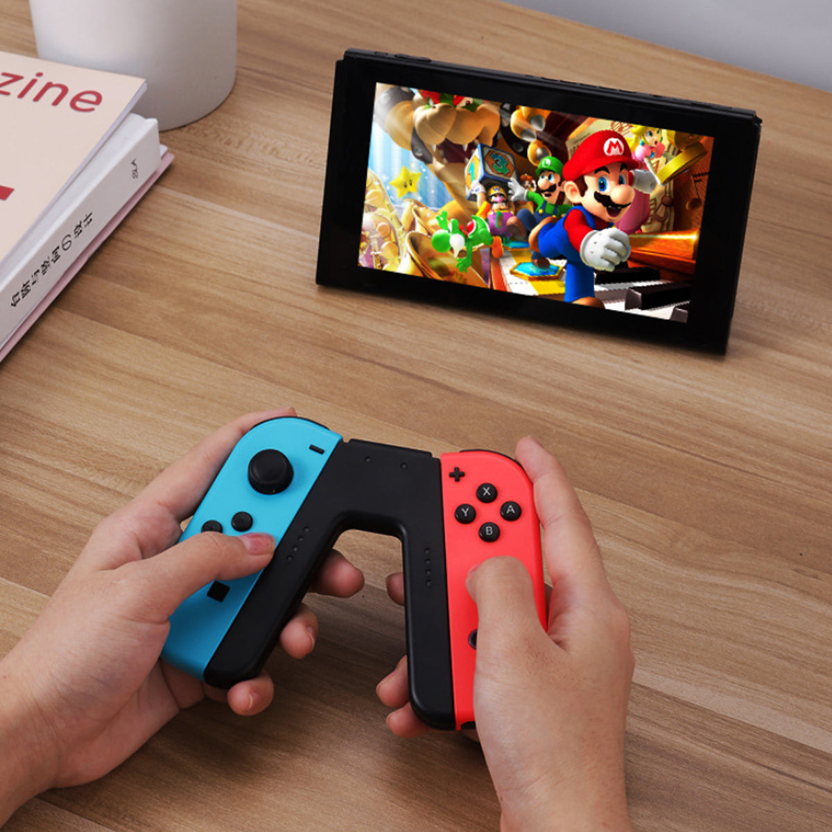 shopify-Red And Blue Switch Game Controller-3