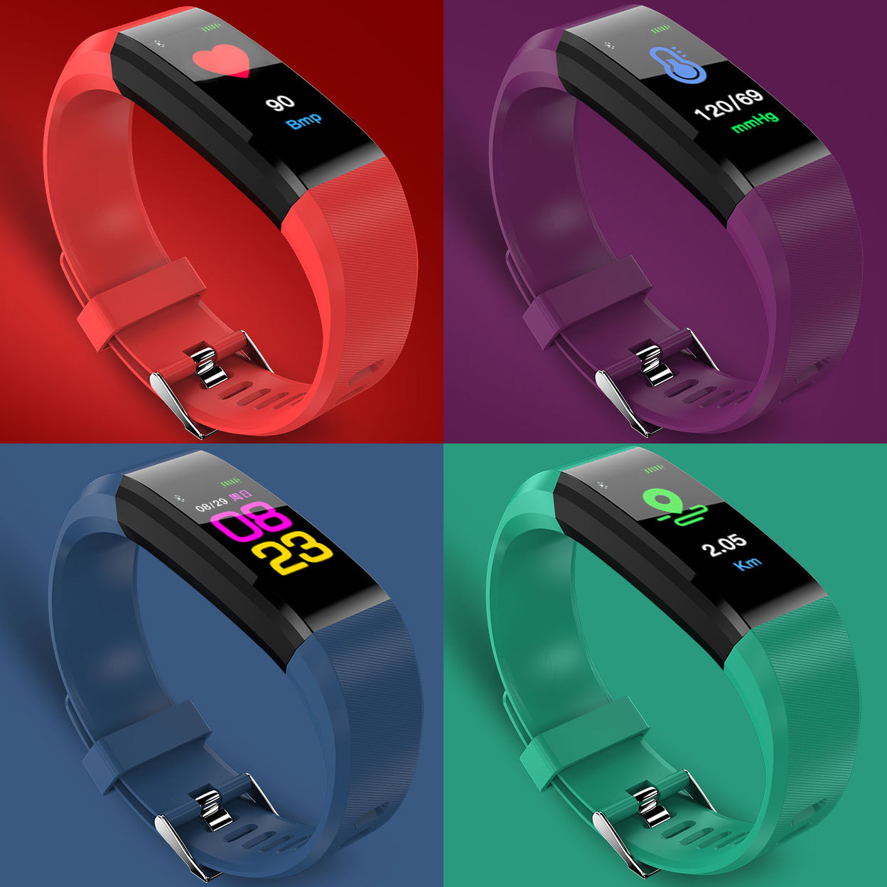 shopify-COOL COLORFUL OLED  Smart Fit Watch With Live HR GPS Trail Tracker-28