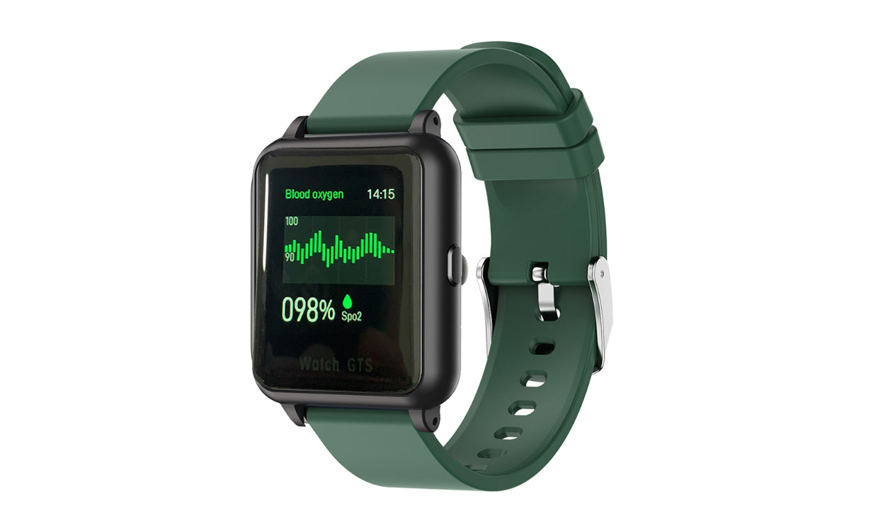 shopify-OXITEMP Smart Watch With Live Oximeter, Thermometer And Pulse Monitor With Activity Tracker-5