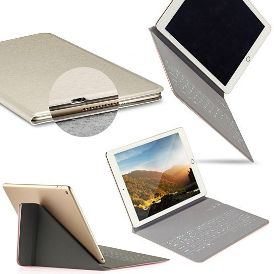 Ultra Thin Apple iPad Case With Touch Sensor Surface Keyboard And Stand