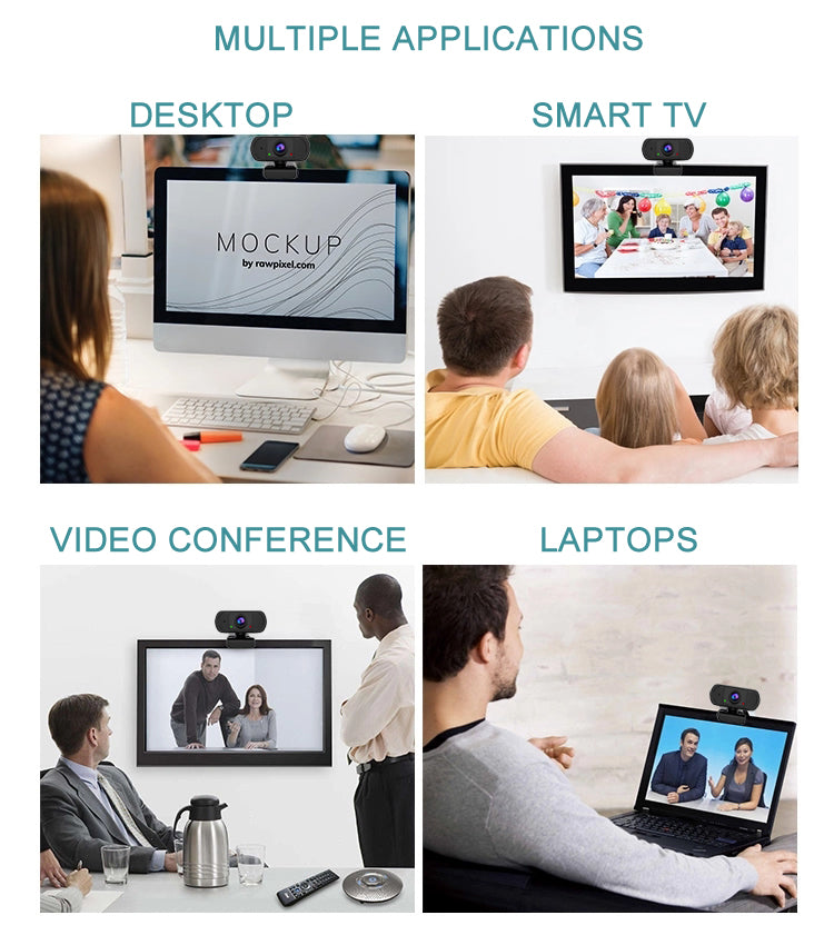 ZOOMEX 1080P HD Portable Camera And Mic For Video Chat