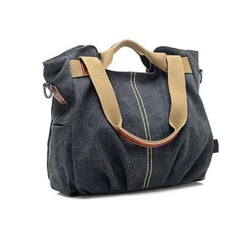 ARM CANDY Handy Natural Canvas Handbag w/ FREE RFID Credit Card Protector Case - VistaShops - 2