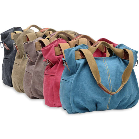 ARM CANDY Handy Natural Canvas Handbag w/ FREE RFID Credit Card Protector Case - VistaShops - 3