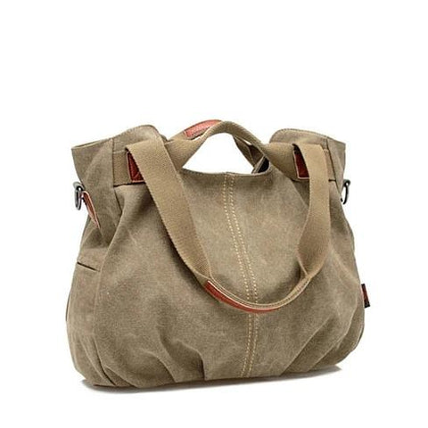 ARM CANDY Handy Natural Canvas Handbag w/ FREE RFID Credit Card Protector Case - VistaShops - 1