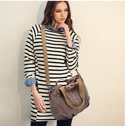 ARM CANDY Handy Natural Canvas Handbag w/ FREE RFID Credit Card Protector Case - VistaShops - 4