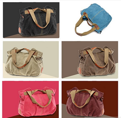 ARM CANDY Handy Natural Canvas Handbag w/ FREE RFID Credit Card Protector Case - VistaShops - 5