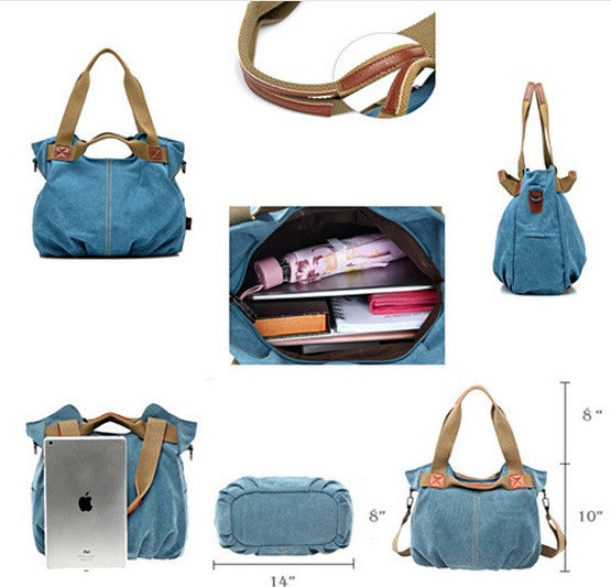 ARM CANDY Handy Natural Canvas Handbag w/ FREE RFID Credit Card Protector Case - VistaShops - 6