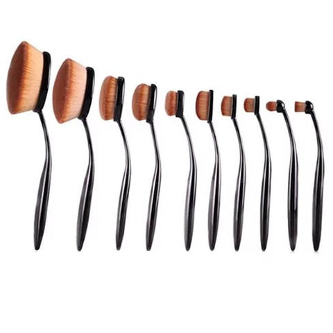 BEAUTY EXPERTS Set of 10 Beauty Brushes - VistaShops - 1