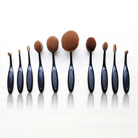 BEAUTY EXPERTS Set of 10 Beauty Brushes - VistaShops - 5