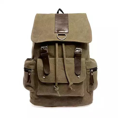 shopify-Back to Campus Canvas Backpack - 4 Colors!-2
