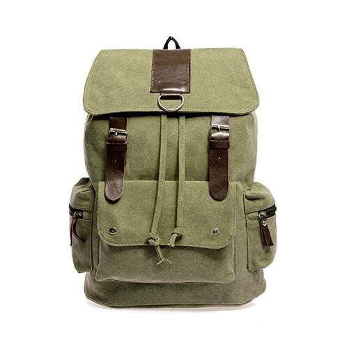 shopify-Back to Campus Canvas Backpack - 4 Colors!-3