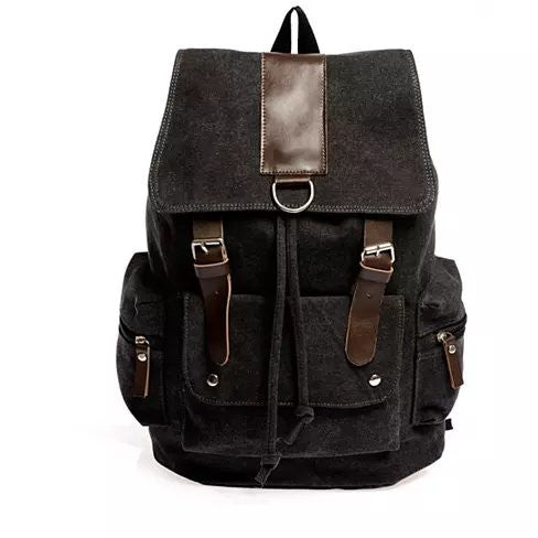 shopify-Back to Campus Canvas Backpack - 4 Colors!-4