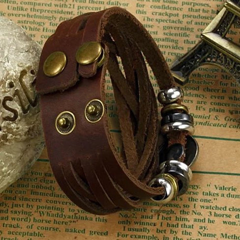 Bingo Bracelet In Genuine Leather - VistaShops - 2
