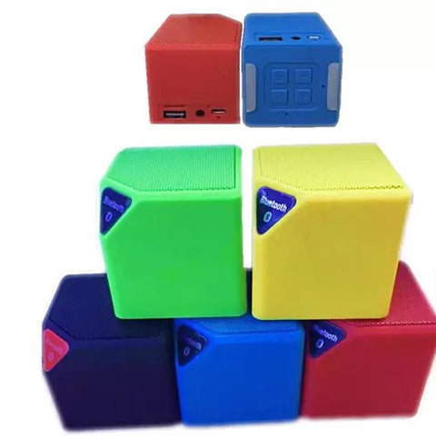 Bluetooth Portable Mini Qube Speaker High Quality with MP3 player LED Lights - VistaShops - 2