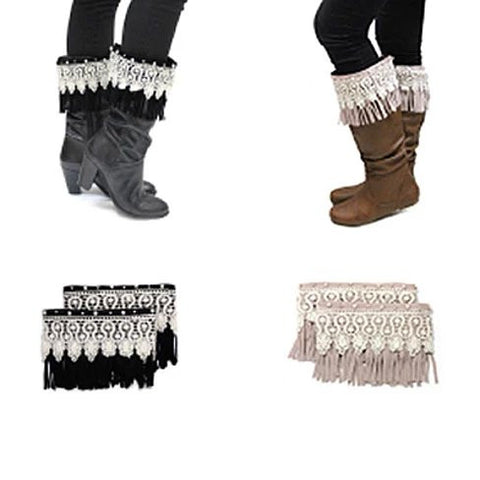 Bootielicious Pearls & Crystals Boot Toppers - VistaShops - 1