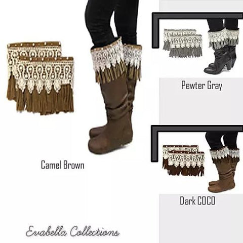 Bootielicious Pearls & Crystals Boot Toppers - VistaShops - 2