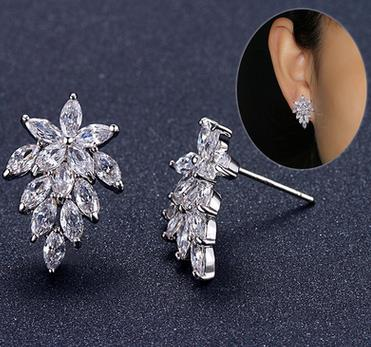 Bouquet Earrings Delicate Flower Statement Studs